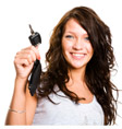 girl with a key to complete range of car and automotive repair services