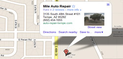 driving direction to mile auto repair